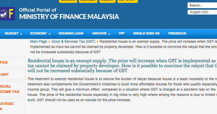 Real Estate Investments in Malaysia Will GST cause