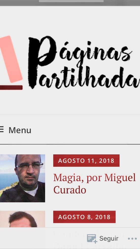 Blogue 'Páginas Partilhadas'
