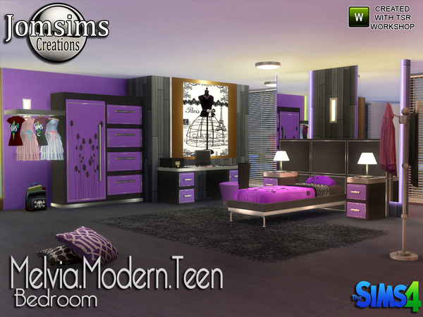 My Sims 4 Blog Melvia Modern Teen Bedroom Set By Jomsims