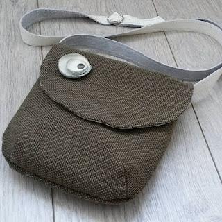 маленькая сумочка из рогожки