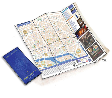 ParisMarais Map 2013 by Yukié Matsushita