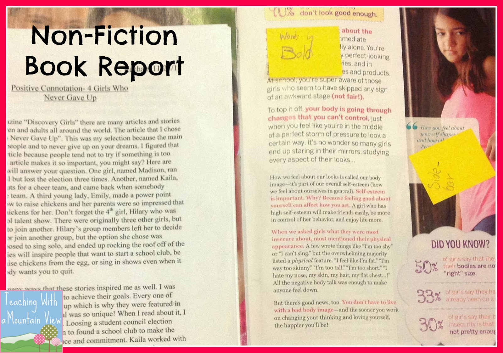 5th grade nonfiction book report Book report - chapter 5 it is exactly one month until my eighth grade graduation, and at he has written fiction and non-fiction books.