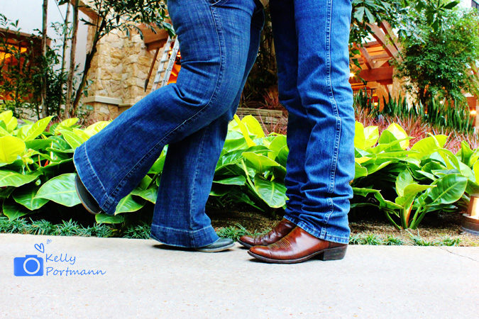 Engagement photos, cute cowboy boots, gaylord texan resort