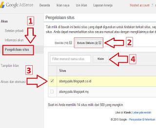 cara klaim blog di google adsense
