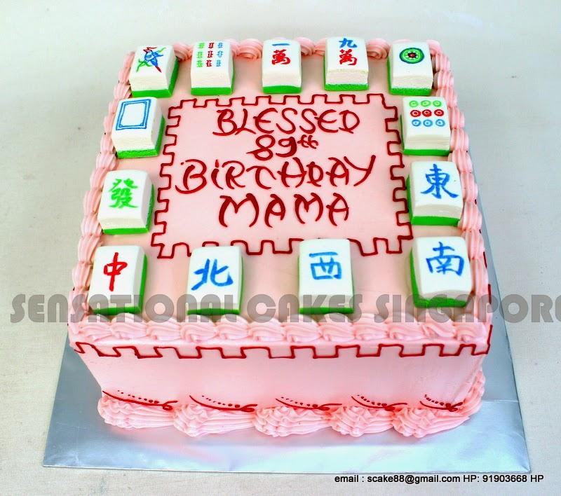 Cakes2share Singapore Mahjong Tiles Cake Singapore Longevity Cake