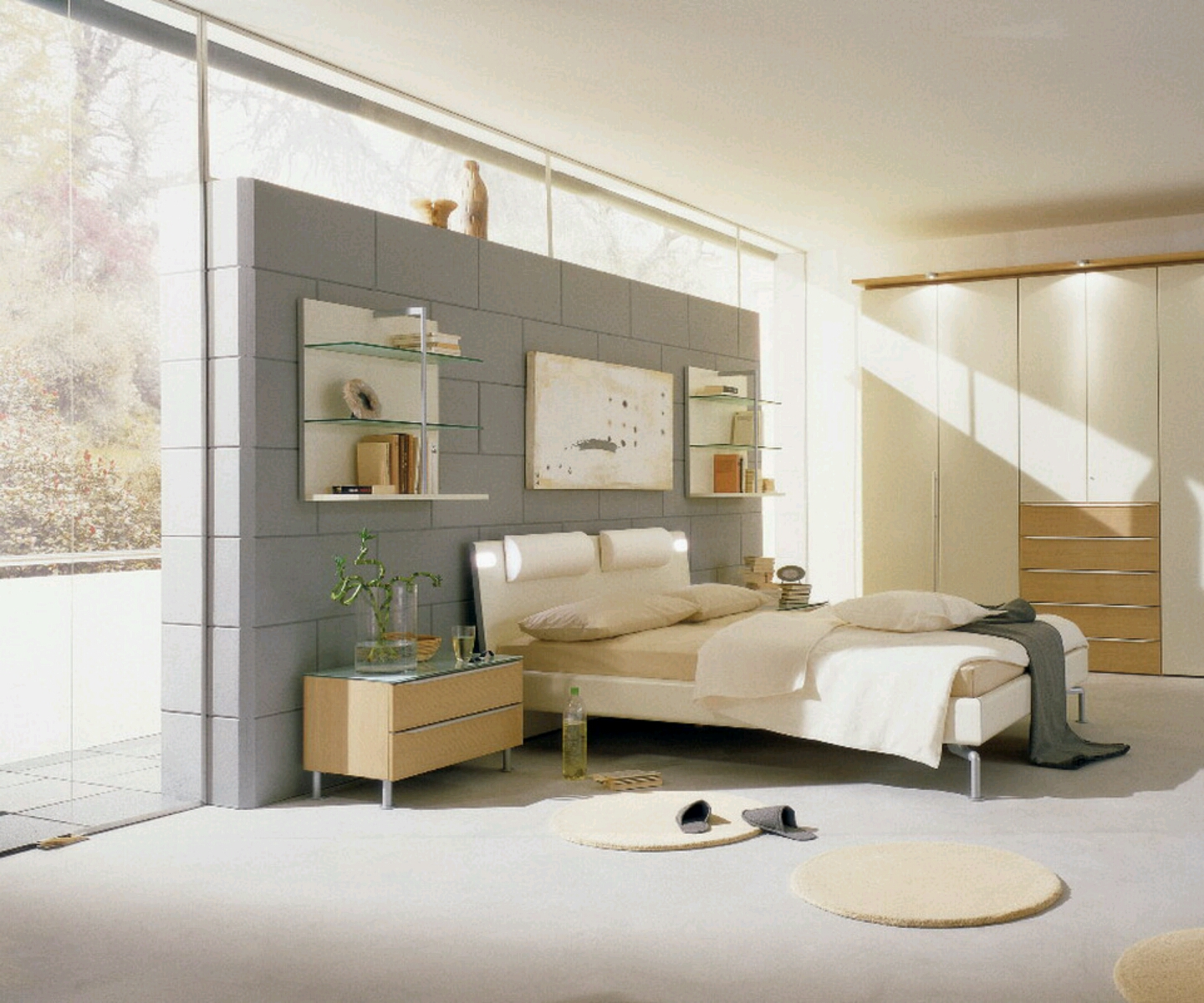 Modern Homes Bedrooms Decoration Designs Ideas