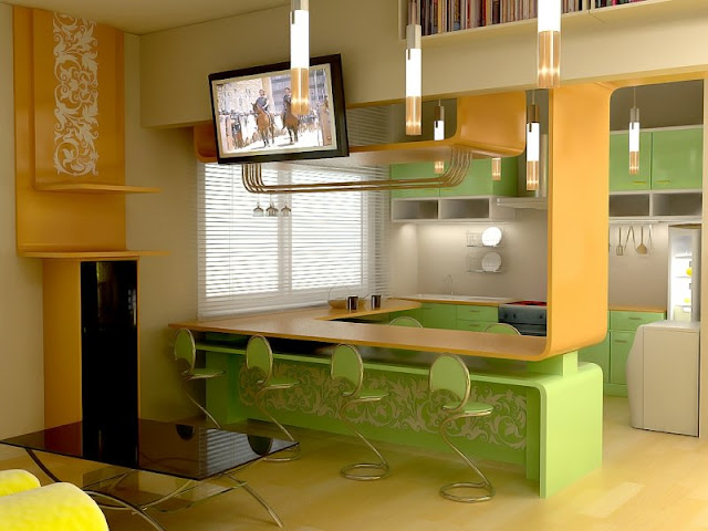 Small kitchen interior design ideas small kitchen design for Interior designs of small kitchens