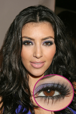 Kardashian Wear Hair Extensions on Wear Fake Eyelashes