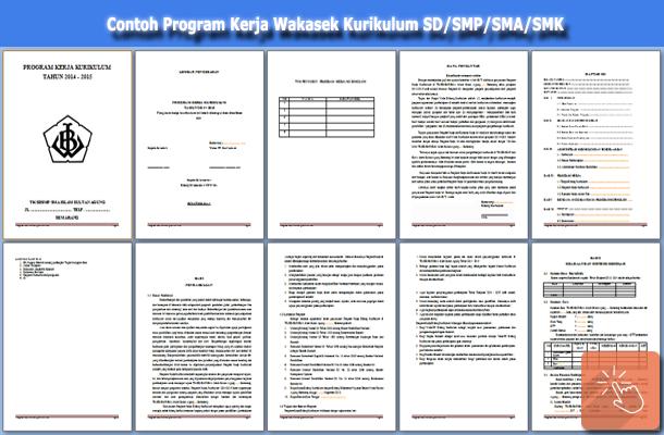 Contoh Program Kerja Wakasek Bidang Kurikulum SD/SMP/SMA/SMK