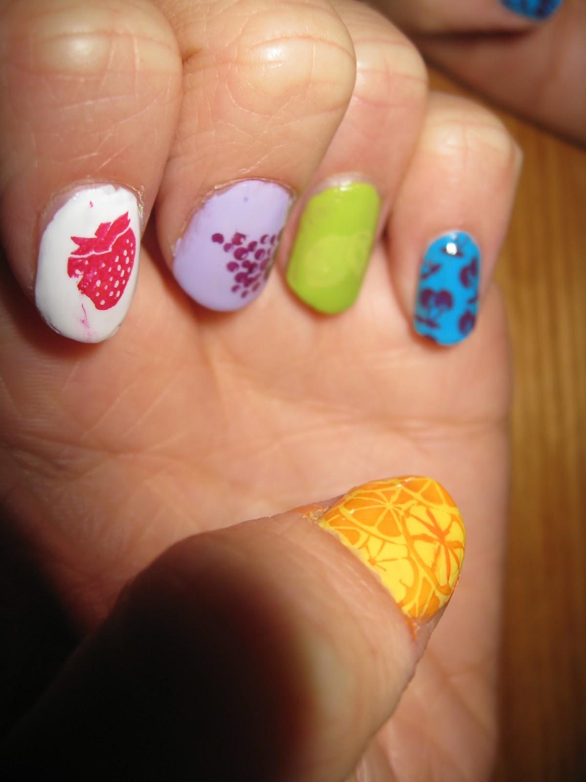 Дизайн ногтей фрукты пошагово
