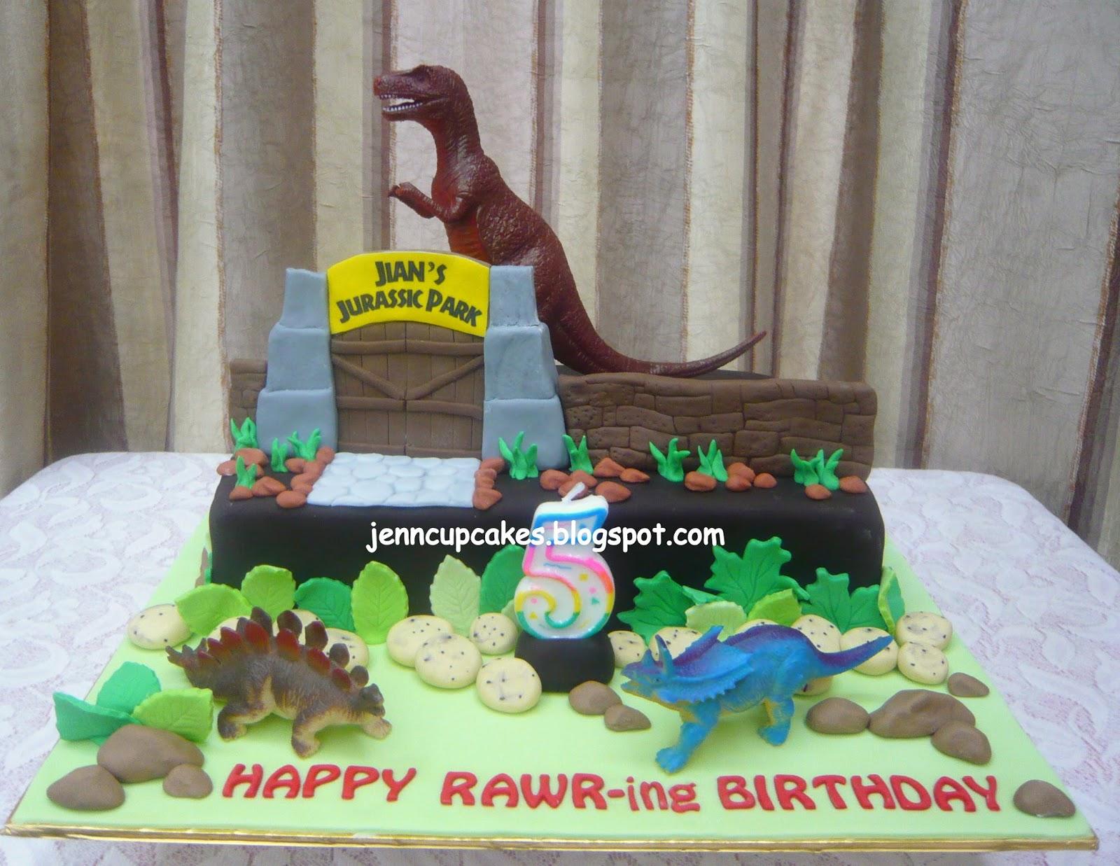 Jenn Cupcakes Muffins Jurassic Park World Cake