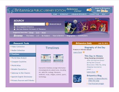 Britannica Online Academic Edition