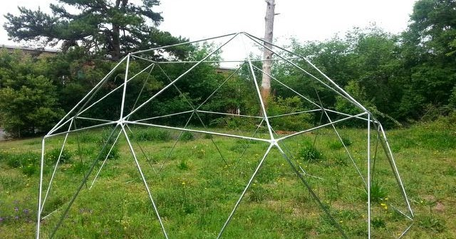 how to build a 2v geodesic dome