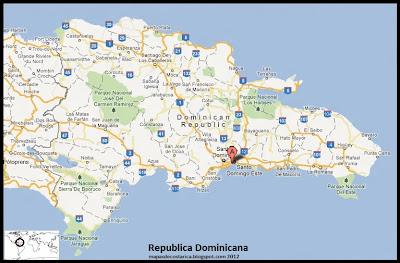 Mapa de Republica Dominicana, Google Maps