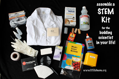 Assemble a STEM Kit for a budding scientist! from STEMmom.org