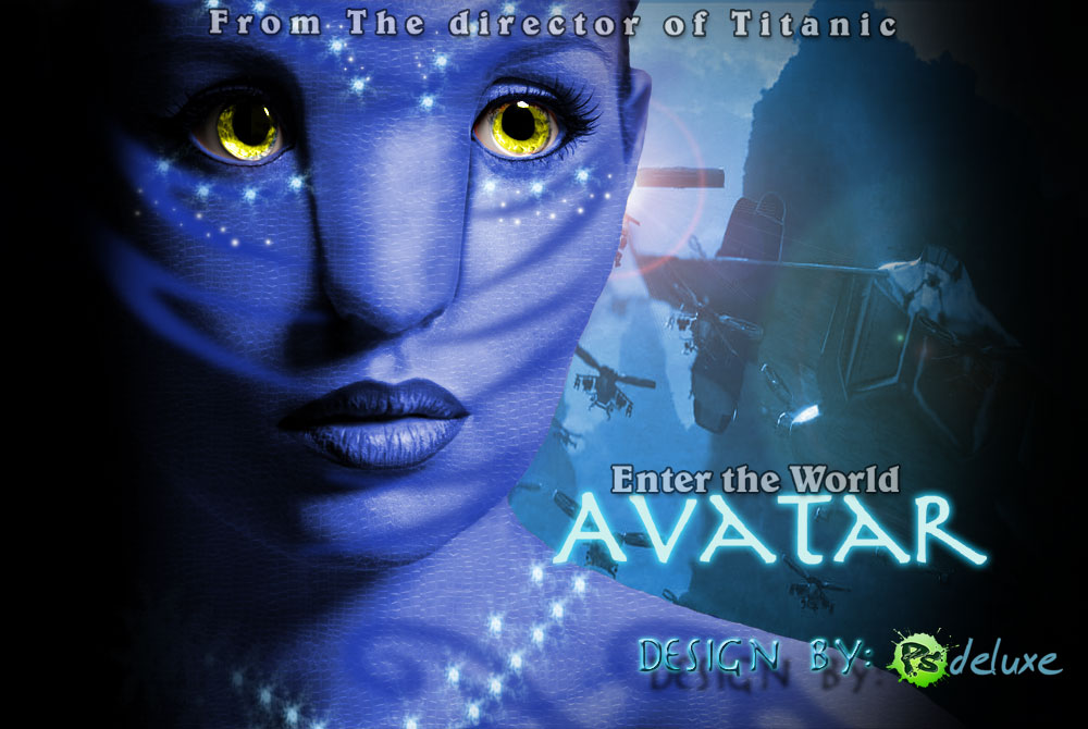 to Create Avatar Movie Poster in Photoshop ~ Tutorials All -Photoshop ...: tutorials-all.blogspot.com/2011/04/how-to-create-avatar-movie...