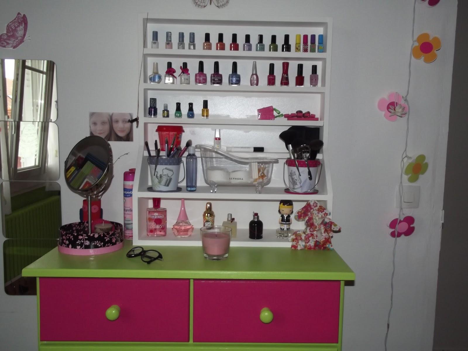 le blog de chic et choc mon rangement maquillage. Black Bedroom Furniture Sets. Home Design Ideas