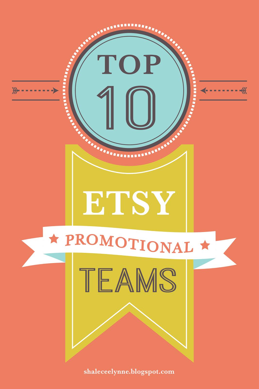 Top Ten Etsy Promotional Teams | Shalece Elynne Art