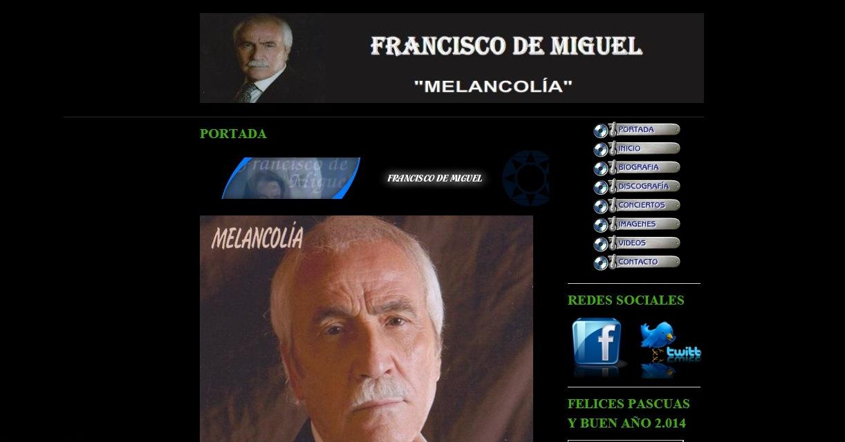 Pagina oficial de Francisco de Miguel