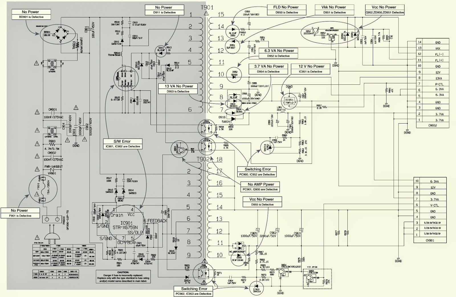 LG HT806ST - SMPS-[STR-X6759N]- (Power Supply) SCHEMATIC (Circuit ...