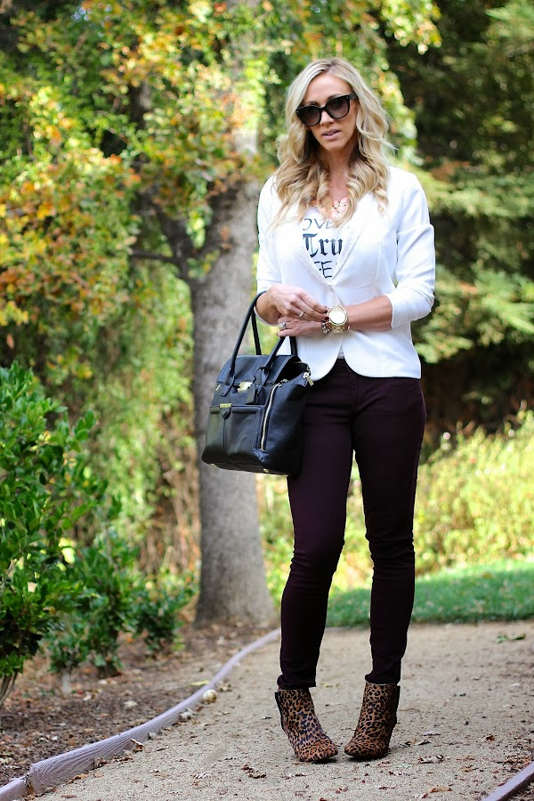white sequin blazer