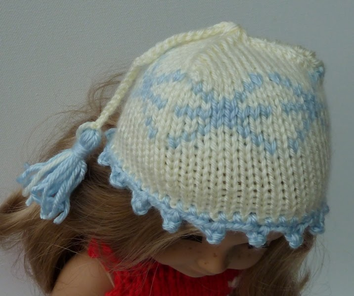 HAND MADE - RUKODELKY: Knitted Snowflake Hat For A Doll >>> Cepicka ...