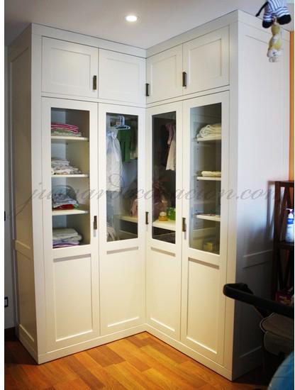 Jumar decoraci n armario empotrado esquina for Armarios de cocina esquineros