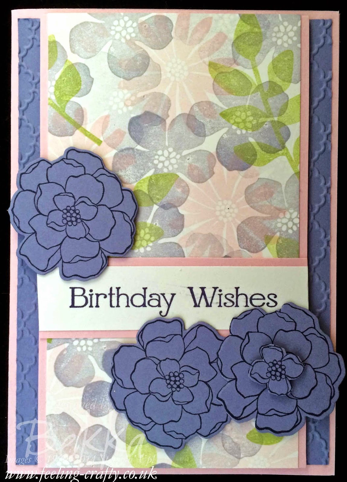 A technique for getting going with new stamps created this birthday card made using Secret Garden Stamps and Framelits from Stampin' Up!  Check it out!