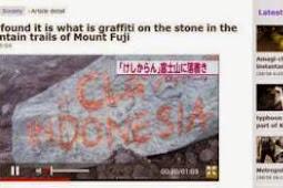 """Aksi Vandalisme """"Indonesia"""" di Gunung Fuji  Jepang Mencoreng Bangsa Indonesia"""
