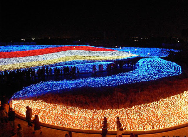 شاهد بالصور نفق الأضواء السحرية باليابان