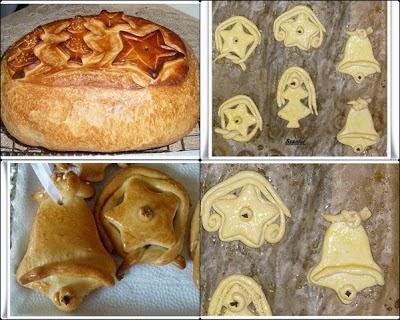 Karácsonyi kenyér és fenyő dísz.