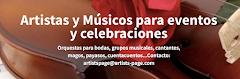 Artistas y músicos para tu evento. Consigue el músico que necesitas para tu boda o fiesta.