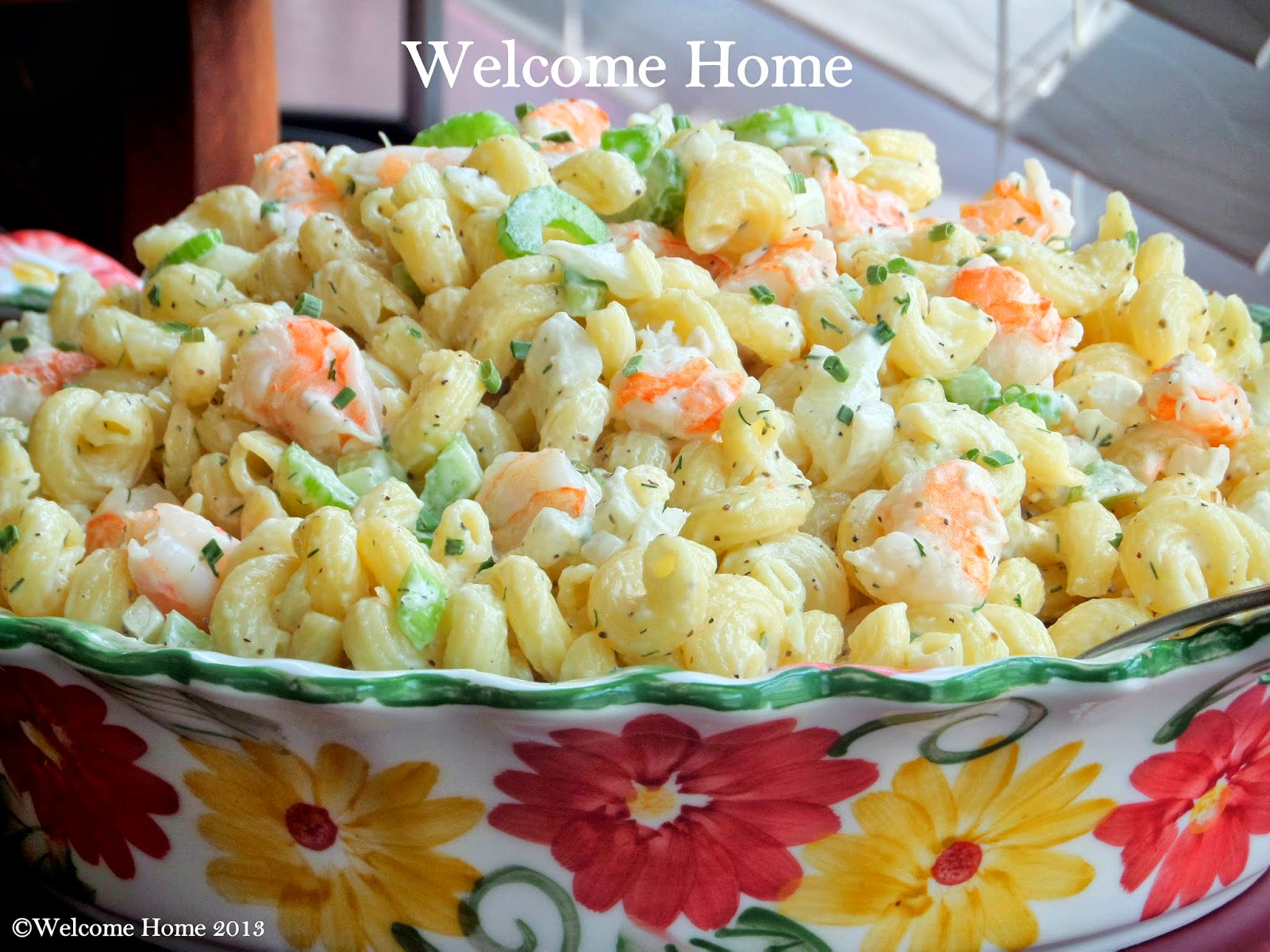 Welcome Home Macaroni Shrimp Salad | Pasta Salad... | Pinterest