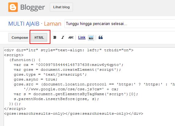 Cara simple membuat mesin pencarian Google diblog