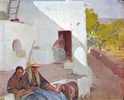 Casa Ibicenca, Anselmo Miguel Nieto, Pintura Española, Pintores Españoles, Pintor Español