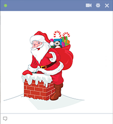 Santa Down the Chimney FB Icon