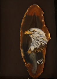Bald Eagle on Brazilian agate