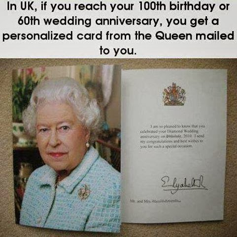 Service To Others Is The Rent You Pay September 2013 – 100 Birthday Card from Queen