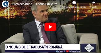 A7 TV: O nouă Biblie tradusă în limba română: Biblia Traducerea Literală 🔴 Invitat: Ion Socoteanu