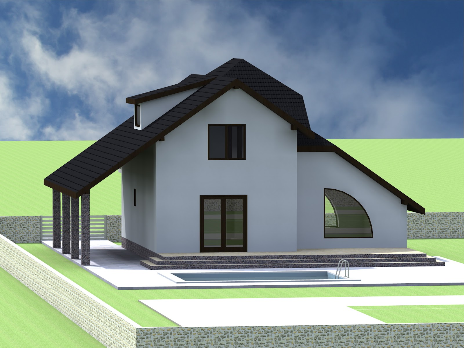 Proiecte constructii for Case de vis cu etaj