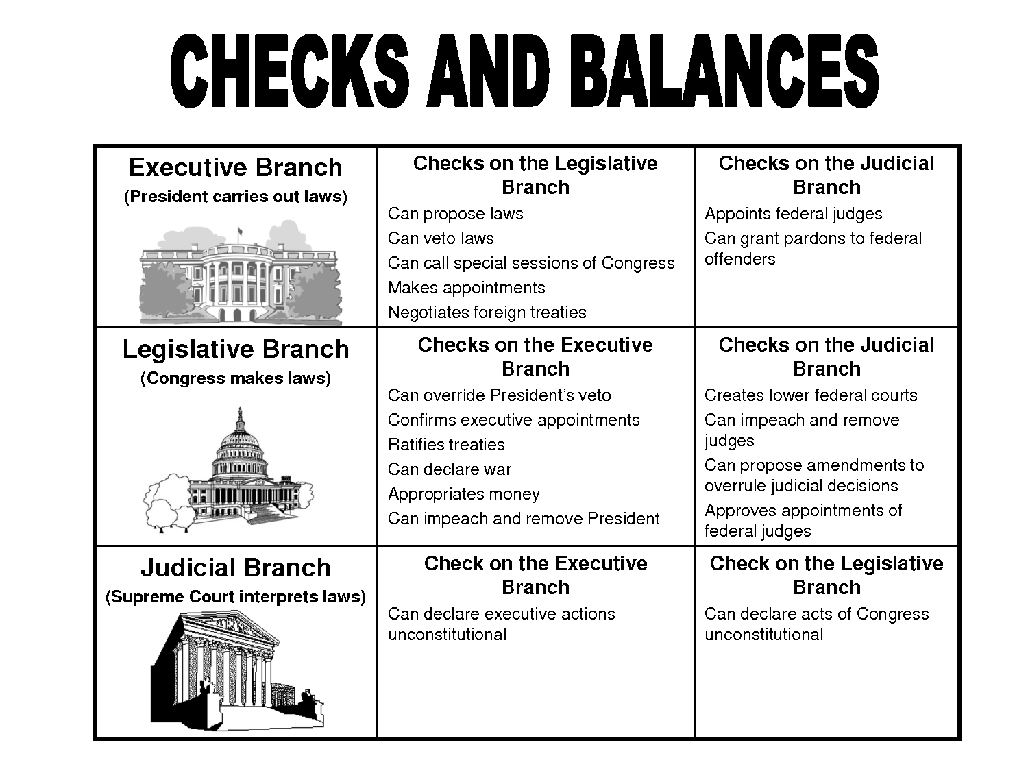 economics checks balances project checks balances project