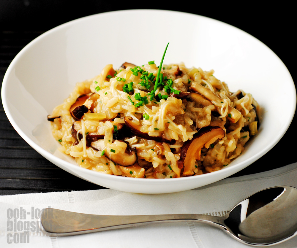 Japanese Risotto With Mushrooms And Scallions Recipes — Dishmaps
