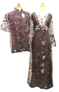 Batik Sarimbit Gamis BSG-02 Merah