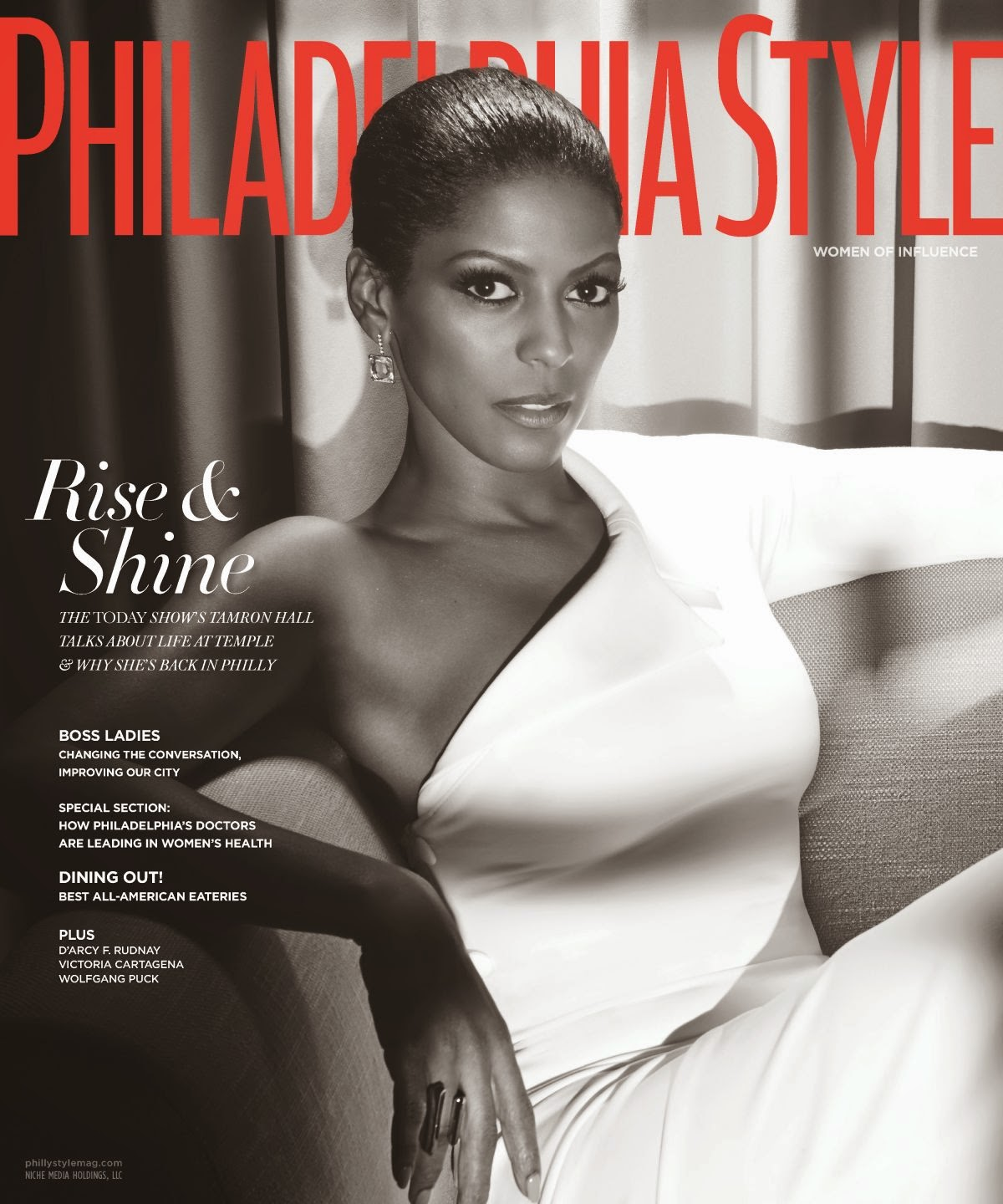 Television journalist @ Tamron Hall In Philadelphia Style Magazine