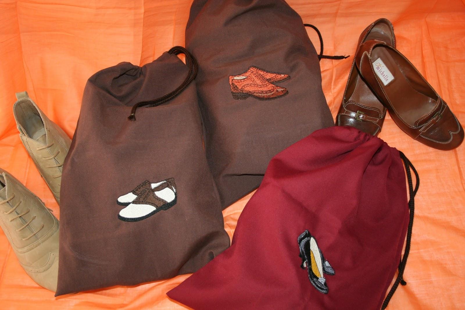 Entre agujas y canillas la mar de bordados bolsas de - Baldas para zapatos ...