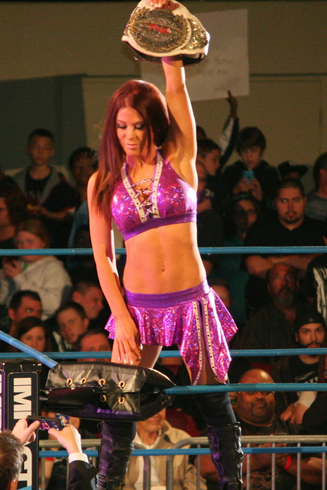 Ashley Cabot Impact Wrestling Champion Hot
