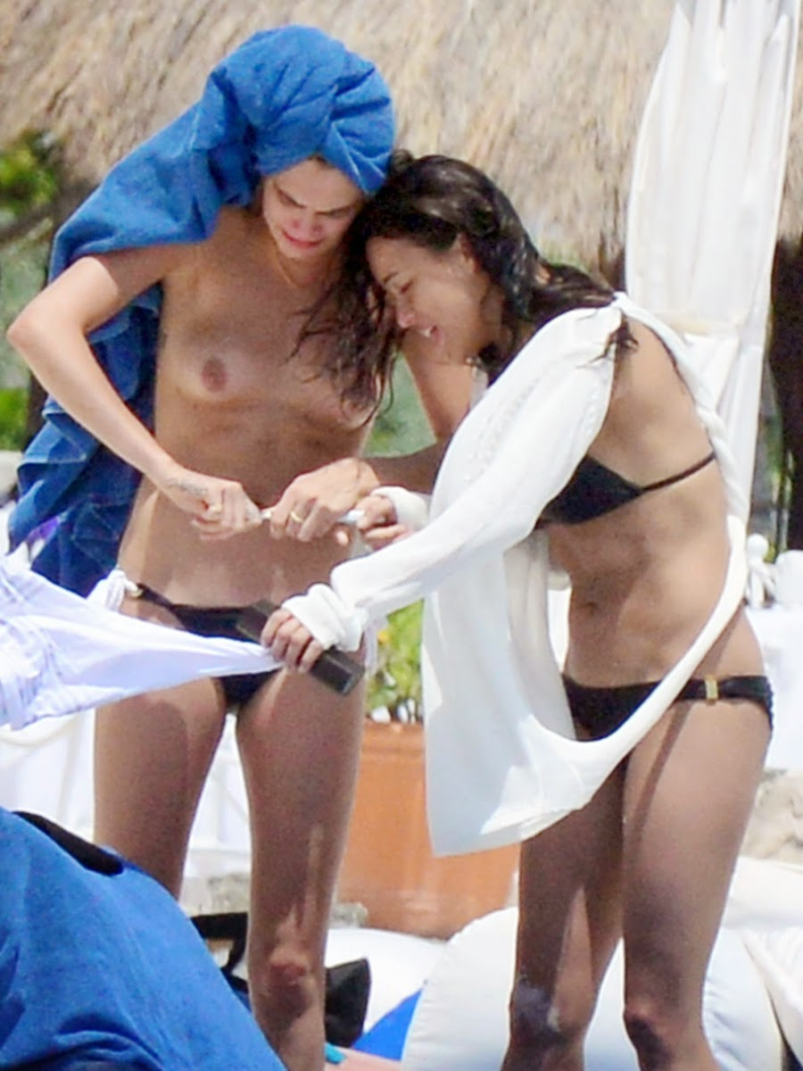 Topless rodriguez delevingne cara michelle