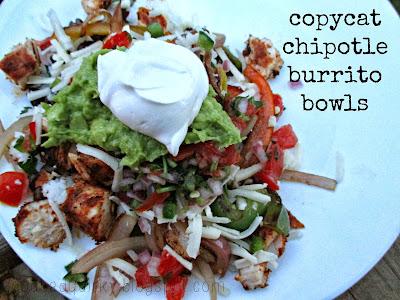 Copy cat Chipotle Burrito Bowls