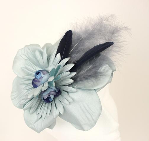 Colección Buceando - Tocado Bouquet  gris