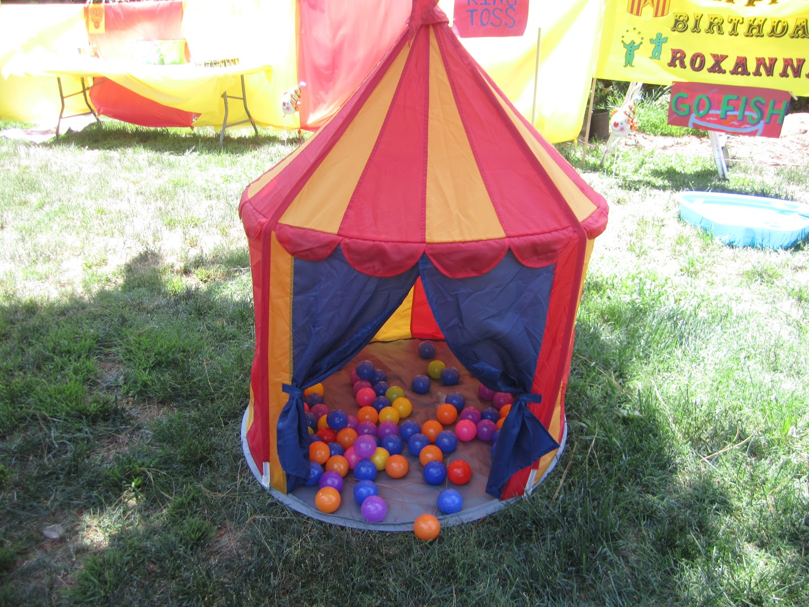 I bought the circus tent at IKEA. It is small but perfect for the little ones. Plus this is something you can use over and over again. & Carnival 5 de mayo Birthday Party | Cricut Decorater